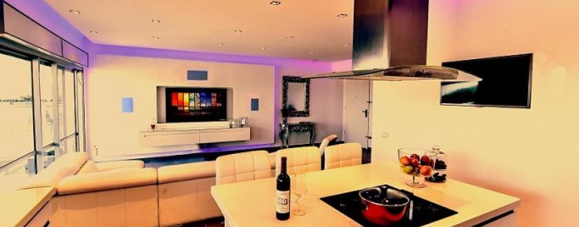 מבט מהמטבח לסלון
