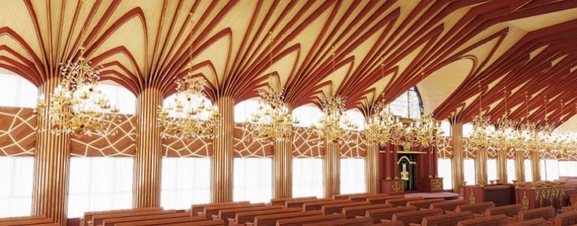 אופציה 2 עיצוב עצי דקל בשילוב פסי זהב