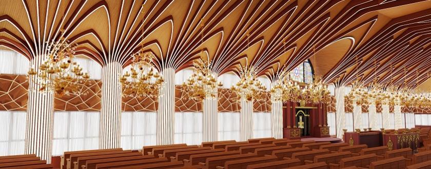 אופציה 1 עיצוב עצי דקל בשילוב עם תאורה