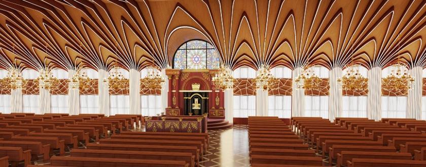 אופציה 1 עיצוב ארון הקודש